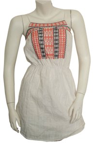 Collective Concepts short dress White, red, black Boho Bohemian Hippie Hippy Gypsy Cochella Sun Summer Cotton Embroidered Embroidery Adjustable Straps Peasant Tank on Tradesy