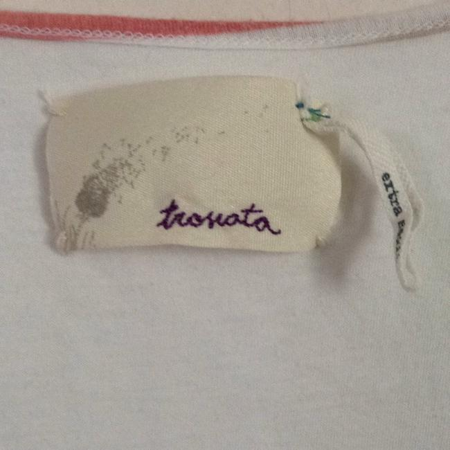 Trovata Top White With Multi Trim