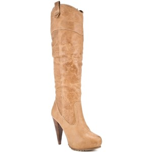 REPORT Boot Leather High Fashion Tan Boots