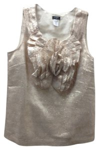 J.Crew Metallic Chic Classic Top Goldish