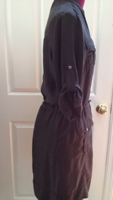 Michael Kors short dress black Silk Shirtdress Career Work Cocktail on Tradesy
