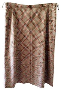 Escada Skirt Brown Plaid