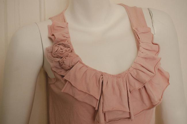 J.Crew Boho Bohemian Ruffles Ruffled Ruffle Rag Roses Distressed Preppy Spring Summer Cochella Blouse Hippy Hippie Gypsy Fit Top light pink