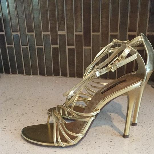 Michael Antonio Gold Pumps
