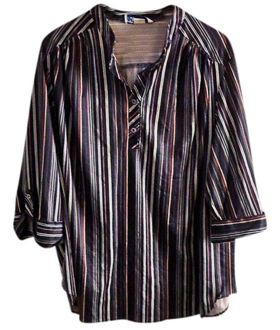 Preload https://item5.tradesy.com/images/blue-striped-blouse-size-20-plus-1x-3740869-0-0.jpg?width=400&height=650