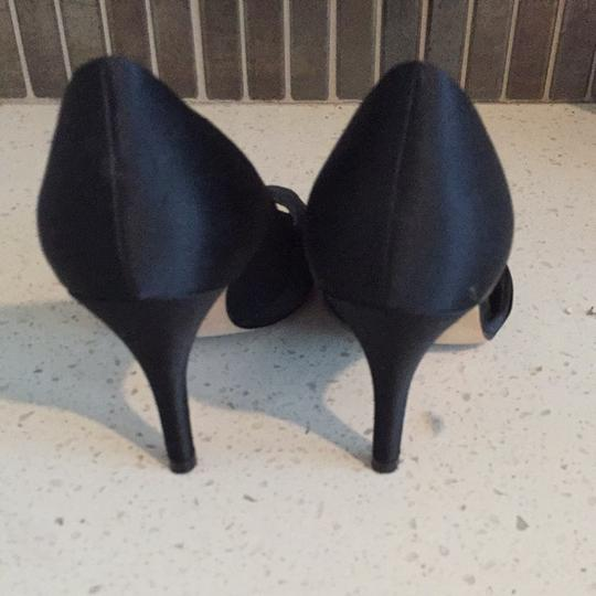 Nina Black Satin Pumps