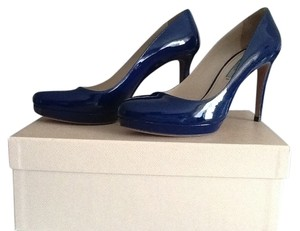 Prada Patent Leather Classic Blue Pumps