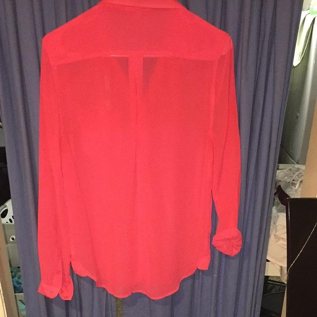 American Eagle Outfitters Button Down Shirt Pink , Salmon