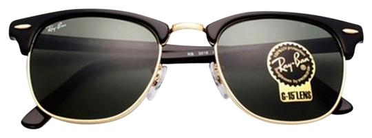 1f6ad08ab0 Ray-Ban Authentic Ray Ban Clubmaster RB3016 W0365 G-15 Dark Green Lens With  ...