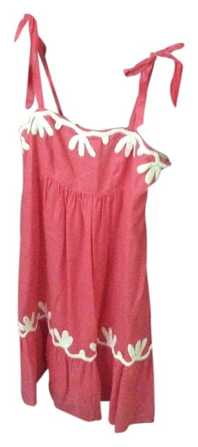 Lilly Pulitzer short dress Coral and white on Tradesy