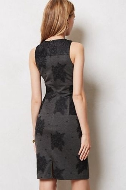 Anthropologie short dress grey and black Lace Maeve on Tradesy