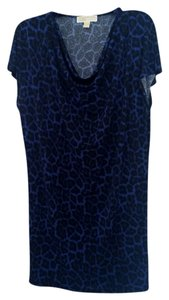 Animal Print - Black/Blue Maxi Dress by Michael Kors Cowl Neck