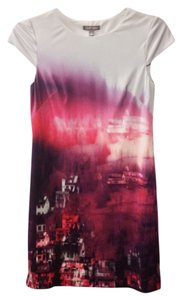 Tinley Road short dress Printed, Pink & Purple base tones Work Summer on Tradesy
