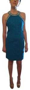 Laundry by Shelli Segal Jeweled Beaded Collar Dress