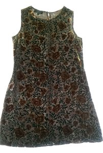 L Bates Collection short dress Moss Green and Rust on Tradesy