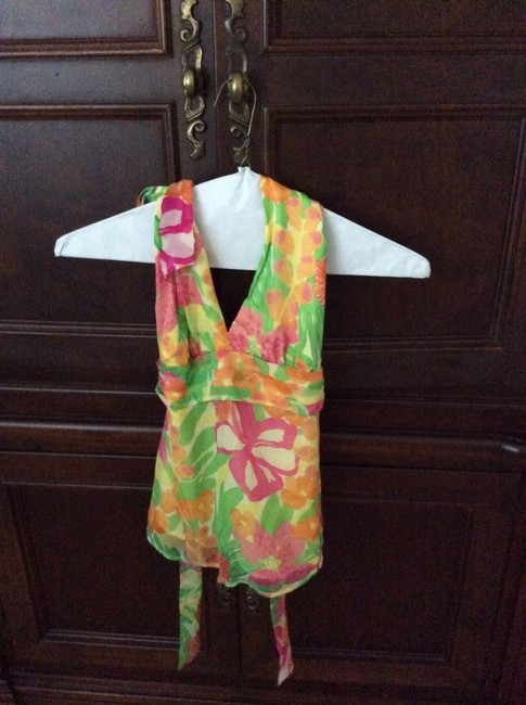 Lilly Pulitzer Top Yellow, pinks, green