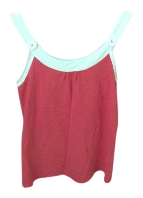 Lilly Pulitzer Top Coral and white