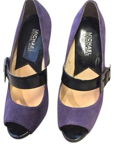 Michael Kors Purple & Black Pumps