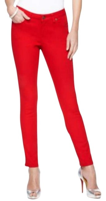 Ellen Tracy Inseam: 29 Inches. Mid Rise: 9 Inches Skinny Leg. Clean Look. Skinny Jeans-Dark Rinse