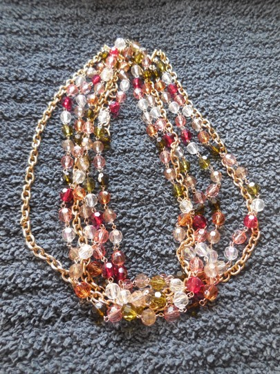 Other 3 Strand Goldtone and Beads Necklace or Belt
