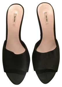 Miu Miu Black and dark Navy Wedges