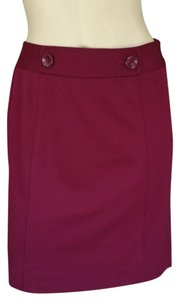 Ann Taylor Mini Skirt Dark Magenta
