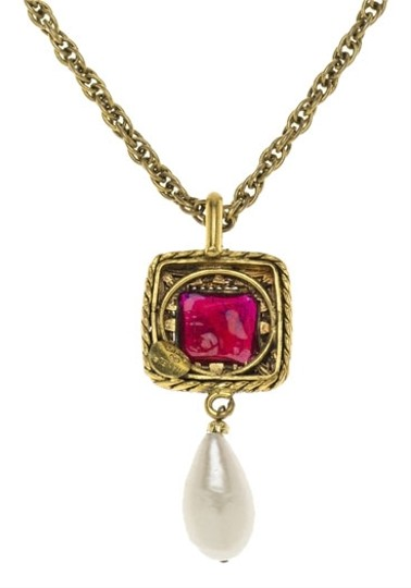 Preload https://item5.tradesy.com/images/chanel-gold-vintage-pendant-necklace-3742834-0-0.jpg?width=440&height=440
