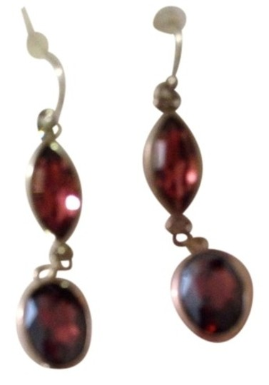 White House | Black Market Amythist Colored Double Drop Earrings