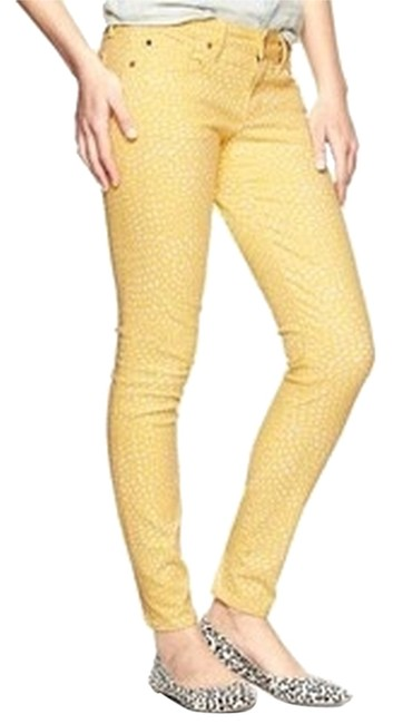 Item - Yellow Light Wash 1969 Always Ankle Polka Dot Skinny Jeans Size 28 (4, S)
