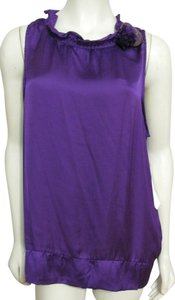 NY Collection Sleeveless Xl 16 18 Flower Floral Brooch New York Nwt Top purple