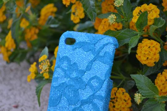 Other BRAND NEW iPhone 4 Case Aqua Blue Flower Lace cell phone cover