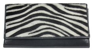 Alberta Di Canio Summer Winter Fall Grey/Zebra Print Clutch