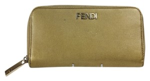 Fendi * Fendi Zip Around Wallet - Gold