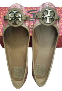 Tory Burch Salmon/Tan Flats