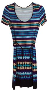 Calvin Klein short dress Multicolor with blue purple white yellow on Tradesy