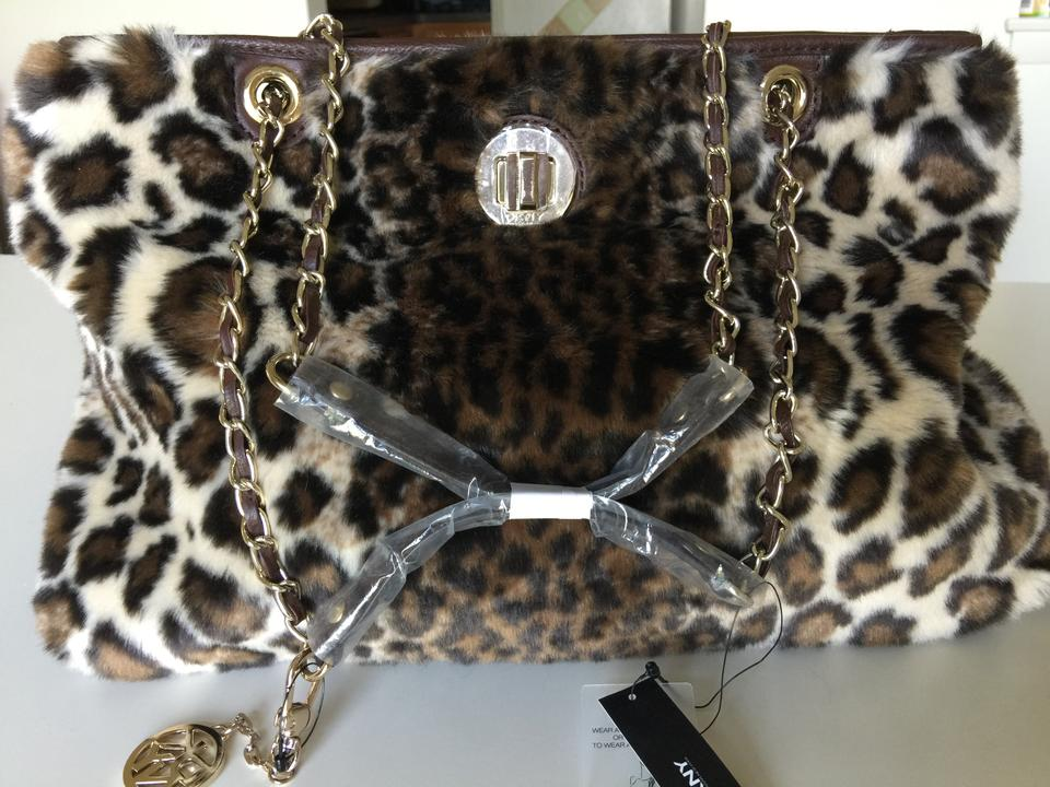 1a936dabc0 DKNY Leopard Faux Fur Shoulder Bag - Tradesy