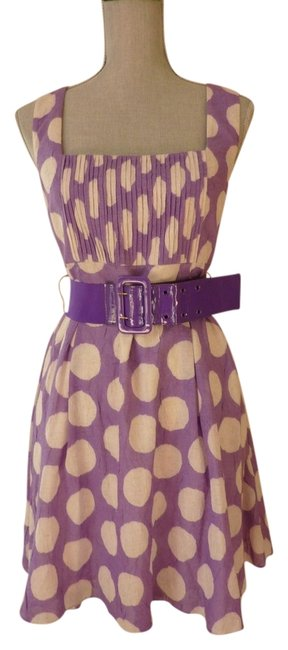 Preload https://item1.tradesy.com/images/alice-olivia-white-and-purple-polka-dot-sleeveless-above-knee-short-casual-dress-size-12-l-3743890-0-0.jpg?width=400&height=650