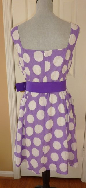 Alice + Olivia short dress White and Purple Alice-and-olivia-purple-white-polka-dot-sleeveless-dress-sz-12 Polka Dot Sleeveless Size 12 Polka Dot Size 12 on Tradesy