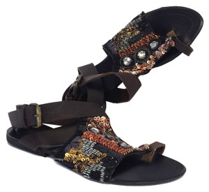 Antik Batik Beaded Leather Sandals