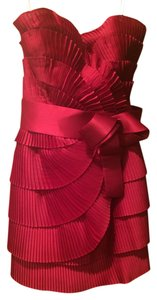 Marchesa Notte short dress Red on Tradesy