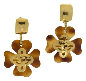 Chanel CHANEL VINTAGE TORTOISE SHELL EARRINGS