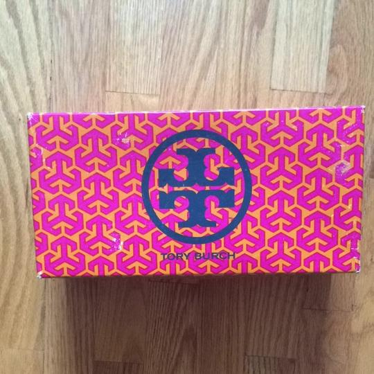 Tory Burch Studded Suede Leather Washed Red Wine/coconut Flats