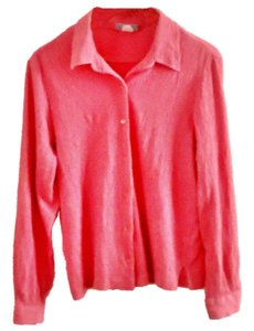 Blair Cotton Textured Stretchy Button Down Shirt rose