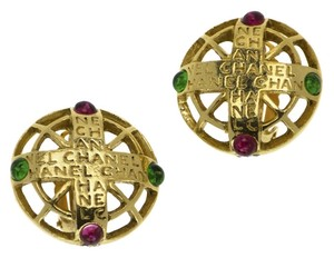 Chanel CHANEL VINTAGE GRIPOIX BYZANTINE EARRINGS