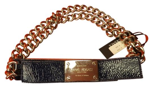 Preload https://item3.tradesy.com/images/versace-blue-leather-2-chains-silver-tone-buckle-80-32-belt-3744742-0-0.jpg?width=440&height=440