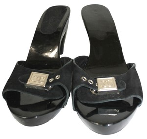 Chanel Slides Heels BLACK Sandals