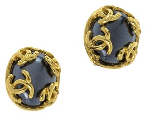 Chanel CHANEL VINTAGE 95A CC LOGO EARRINGS