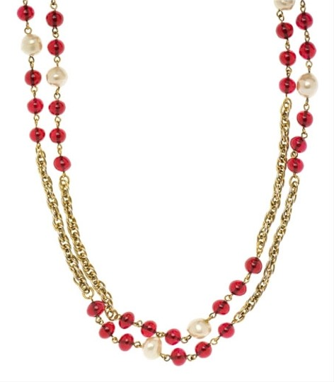 Chanel Chanel Red Sautoir Necklace