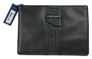 Cole Haan * Cole Haan Large Leather Pouch - Black