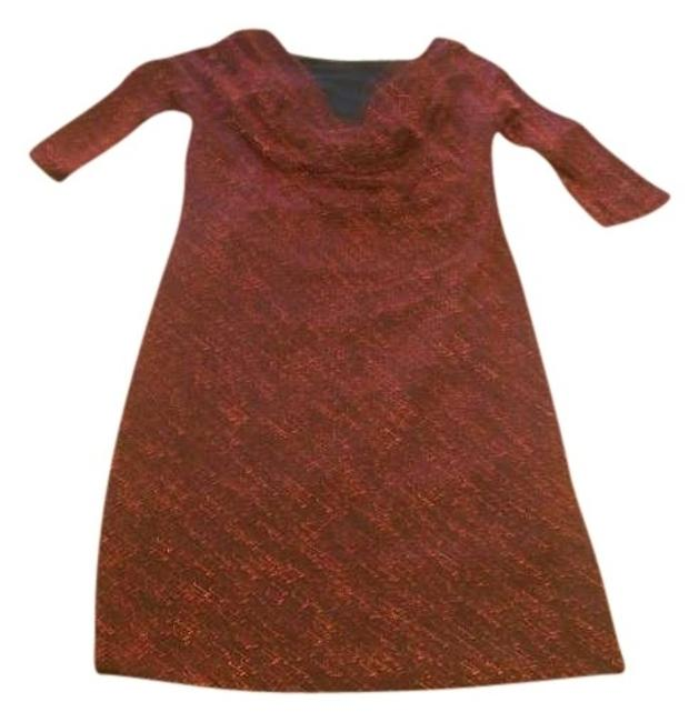 Item - Red Drapey Cowl Above Knee Short Casual Dress Size 8 (M)